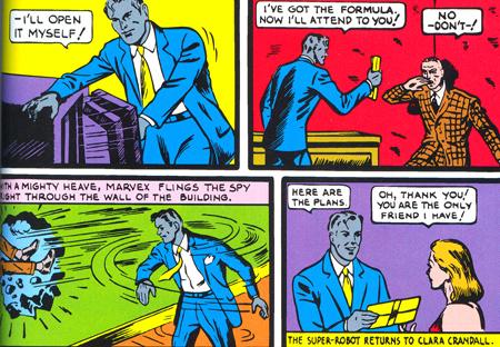 Marvex restitue... une formule ou des plans ? Les personnages ne semblent pas le savoir eux-mêmes.
