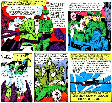 Les Boy Commandos sont vivants ! Les patrons de DC vont être contents !