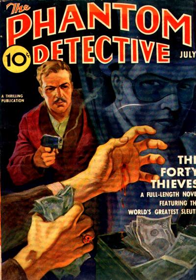 "Le Phantom Detective sous sa forme ""pulp""..."