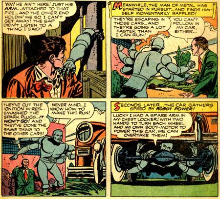 Robotman en voiture ? Non, Robotman EST la voiture...