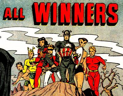 Le Whizzer au sein du All-Winners Squad de 1946...