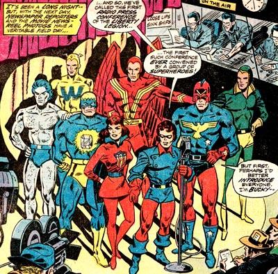 Une autre �quipe se rajoute dans la chronologie du Whizzer : la Liberty Legion. Mais le Whizzer et son co-�quipier Jack Frost ne font pas mine de se conna�tre apr�s leur 1�re rencontre chez les U.S.A. Heroes !