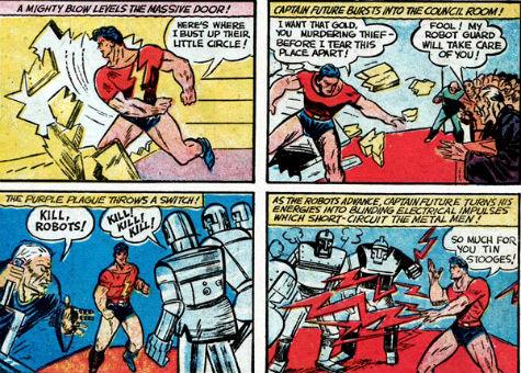 Captain Future contre les robots...