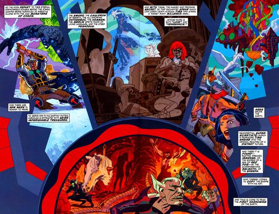 Seven Soldiers : Morrison explique comment les reliques des New Gods sont arrivés sur Terre... et dans le mythe arthurien.