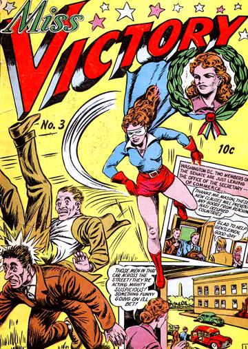 Miss Victory allait durer et connaître différents costumes au long de sa carrière.