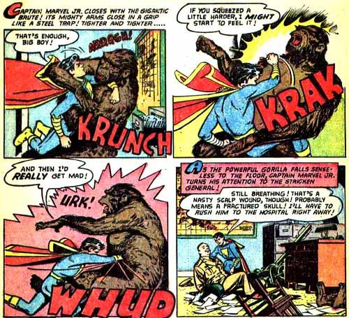 Le combat contre le gorille