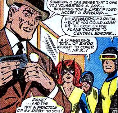 Pour une fois les X-Men acceptent de l'argent pour leurs exploits...