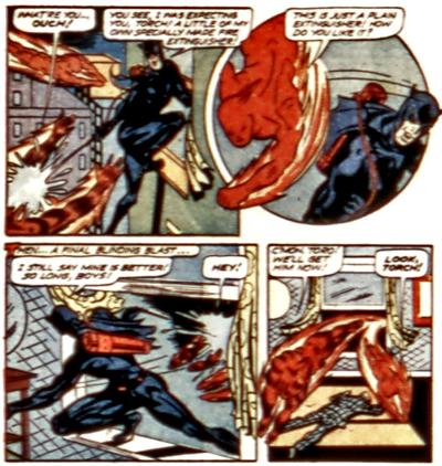 Catman arrive à tenir tête à Human Torch, ce qui n'est pas donné à tout le monde...