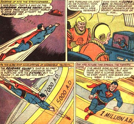 Superman traverse le temps...