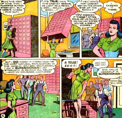 Lois incapable de montrer sa bravoure... à cause d'une souris.