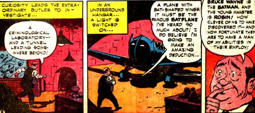Alfred découvre le Batplane
