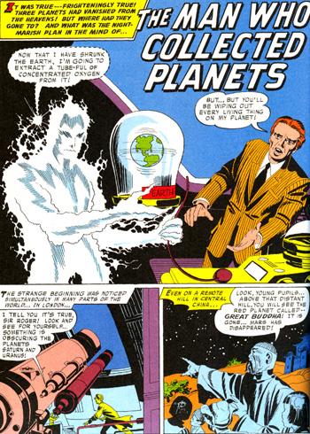 """""""The Man Who Collected Planets"""", """"L'Homme qui collectionnait les planètes"""""""