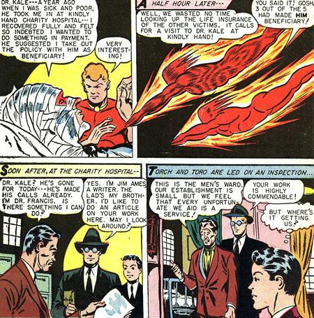 Human Torch adopte l'identité de Jim Ames