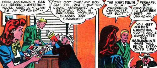 Lentil tient à utiliser le personnage d'Harlequin