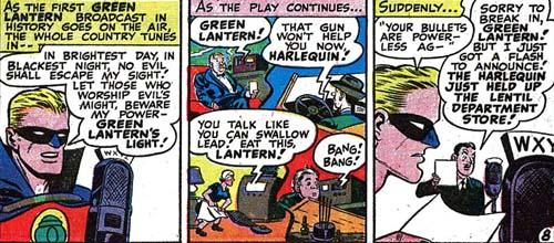 Green Lantern joue le jeu de l'émission.
