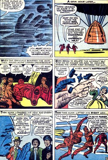 La capsule revient sur Terre et Hunk est transformé...