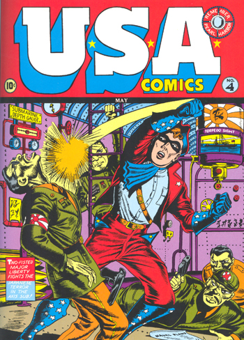 Major Liberty sur la couverture d'U.S.A. Comics #4