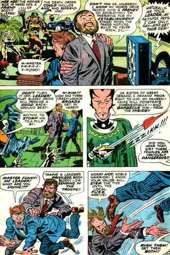Funky et Houseroy contre les guerrières de Darkseid