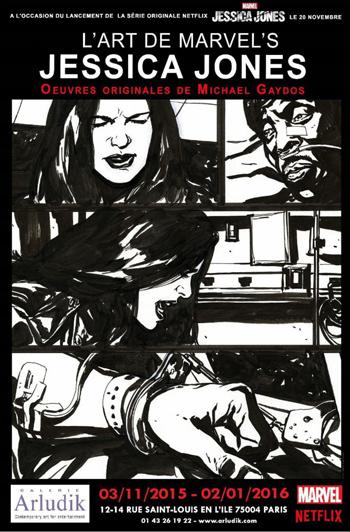 L'Art de Marvel's Jessica Jones @ la galerie Arludik