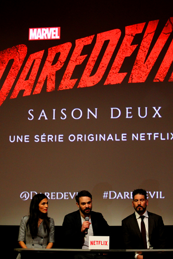 Elektra, Daredevil et le Punisher, en chair et os, à Paris.