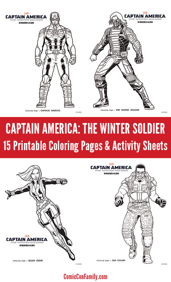 captain america the winter soldier coloring pages amp activity