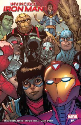 Invincible Iron Man 5 - Cover