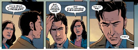 Doctor Who - Tenth Doctor Year 3 Issue 5 - Doctor speaking about how bad things happen to him in London