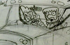 driving round