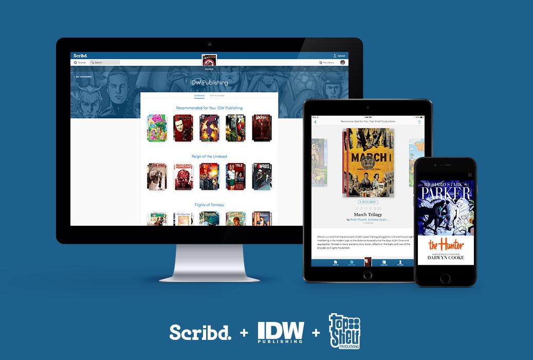 9fb0f345-0272-4e4c-a041-0939a122e63d IDW and Top Shelf join Scribd subscription reading service