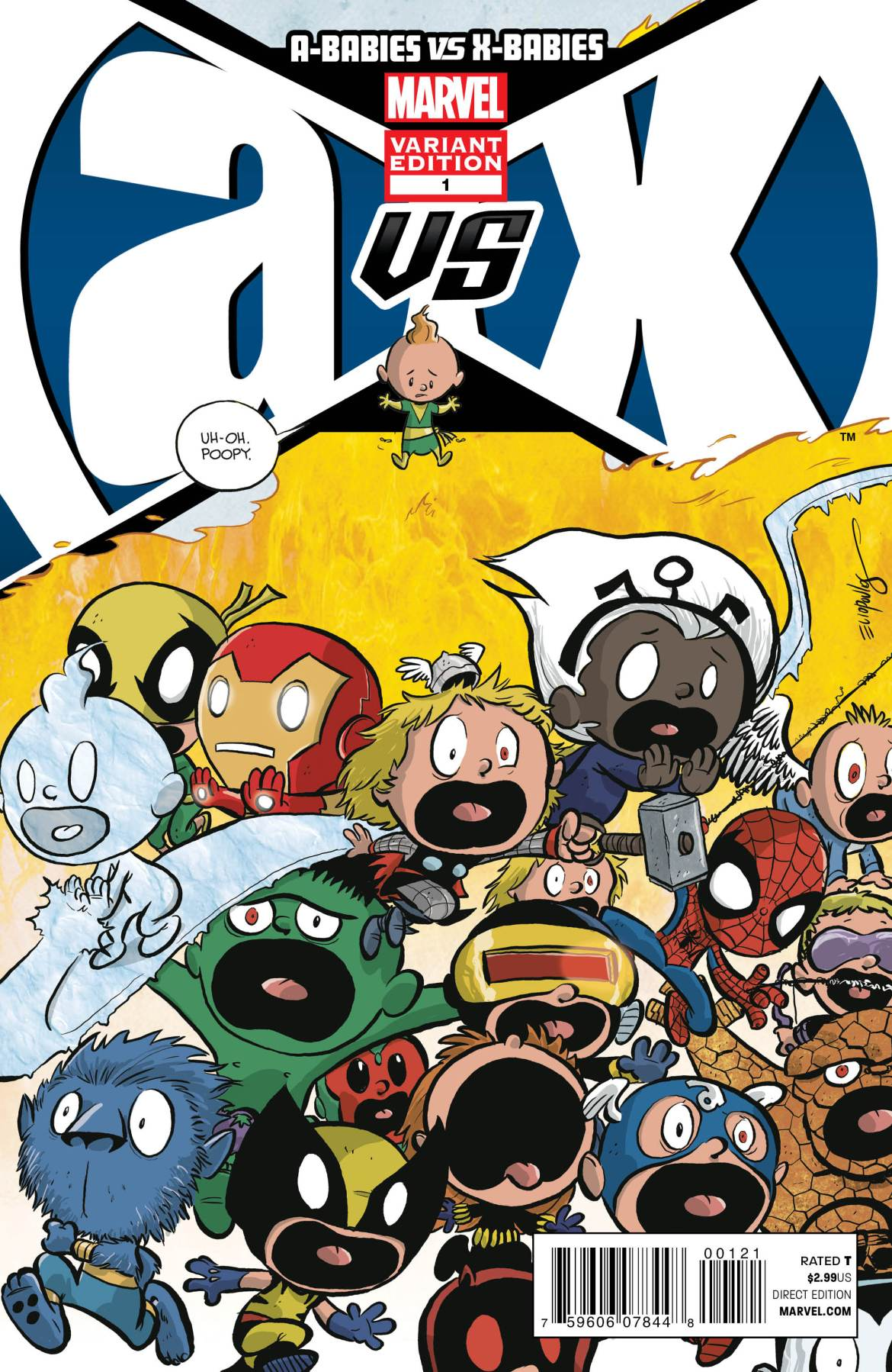 ABabiesVSXBabies_1_CoverVariant Chris Eliopoulos draws variant cover for A-BABIES VS. X-BABIES #1