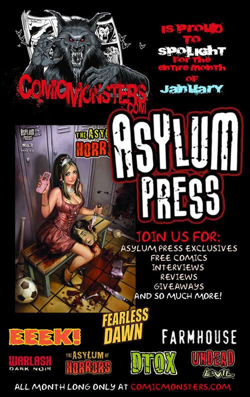 APCMpromoimage Comic Monsters and Asylum Press spread the horror and insanity
