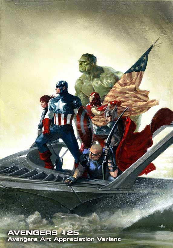 Avengers-25-AAA-GabrieleDellOtto Marvel discloses Avengers Art Appreciation Variant Covers
