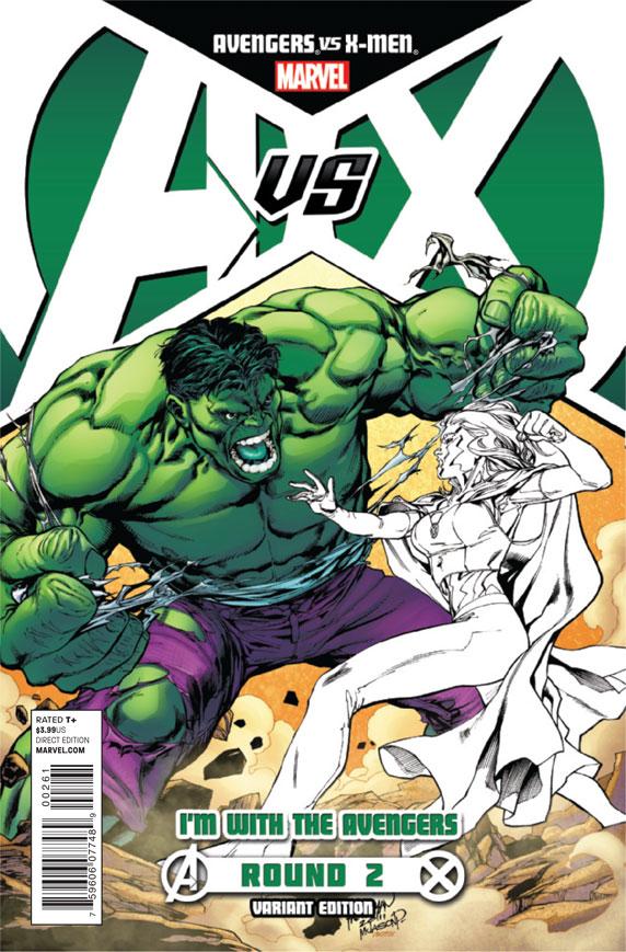 AvengersVSXMen_2_CoverAvengersVariant The battle for hope begins today in AVENGERS VS X-MEN #2