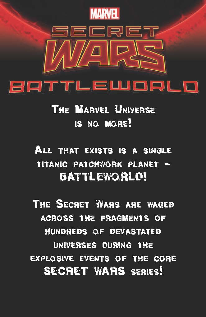 BATTLEWORLD You've got to break some universes to make SECRET WARS' BATTLEWORLD