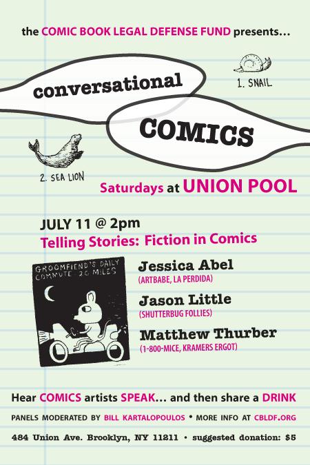 ConversationalComics CBLDF's Conversational Comics Continues At Union Pool