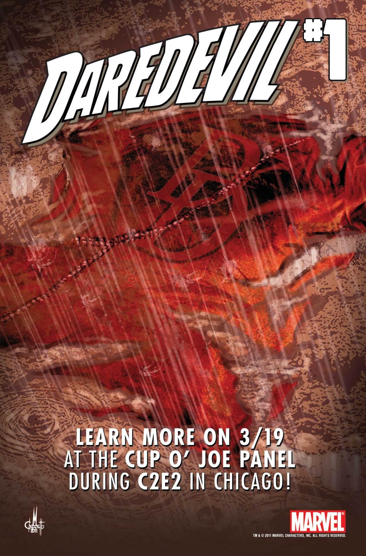 DaredevilC2E2 DAREDEVIL #1 creative team to be revealed at C2E2