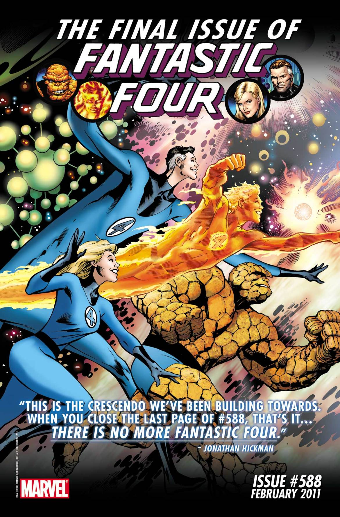 FF588 Marvel releases cover to final issue of FANTASTIC FOUR