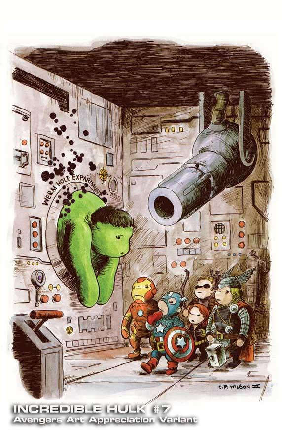 Incredible-Hulk-7-AAA-CharlesPaulWilsonIII Marvel discloses Avengers Art Appreciation Variant Covers