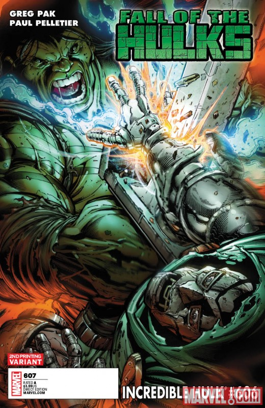 IncredibleHulk_606_SecondPrintingVariant Fall Of The Hulks SMASHES into two new printings