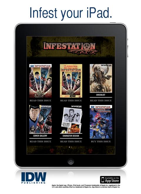 Infestation_iPad_IDW IDW Publishing releases custom Infestation Comics app for iOS