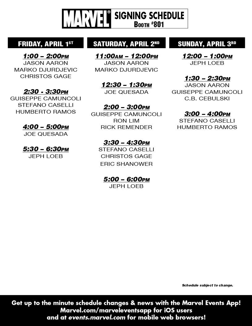 MARVEL_WONDERCON2011_Schedule Marvel announces WonderCon 2011 signing schedule