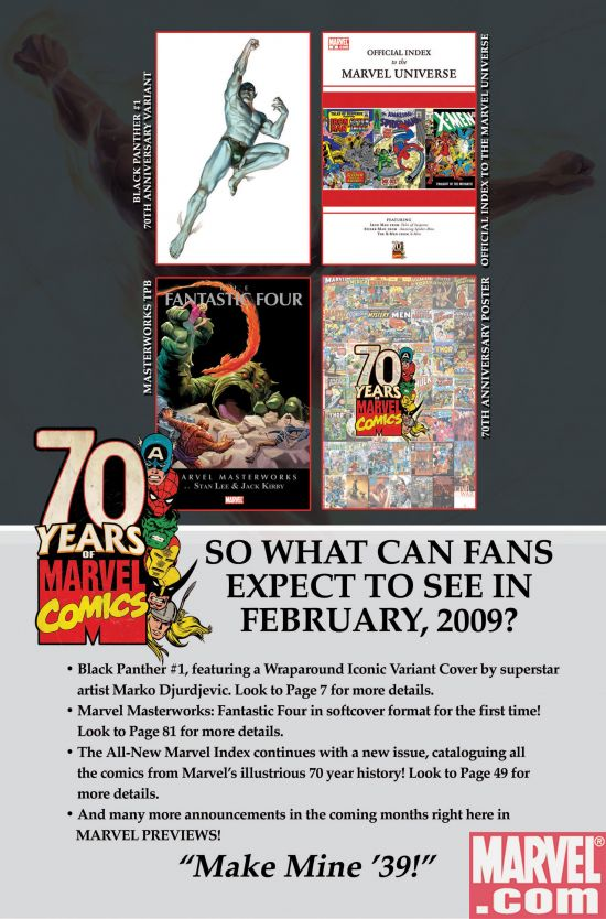 Marvel70thAnniversary_Feb Marvel Continues Historic 70th Anniversary Celebration In February 2009