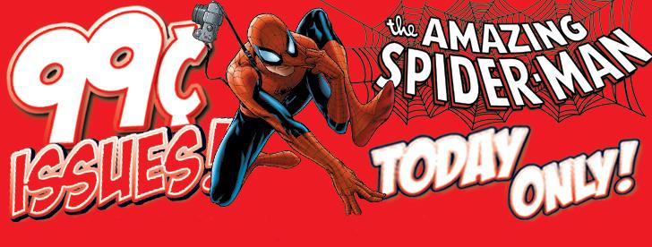 MarvelComicsAppSale Marvel Comics App 99 Cent Super Sale