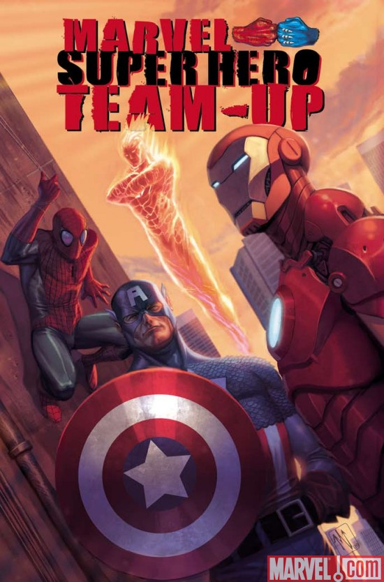 MarvelSuperHeroTeamUpTPB Mighty Men Of Marvel Unite In Marvel Super Hero Team-Up