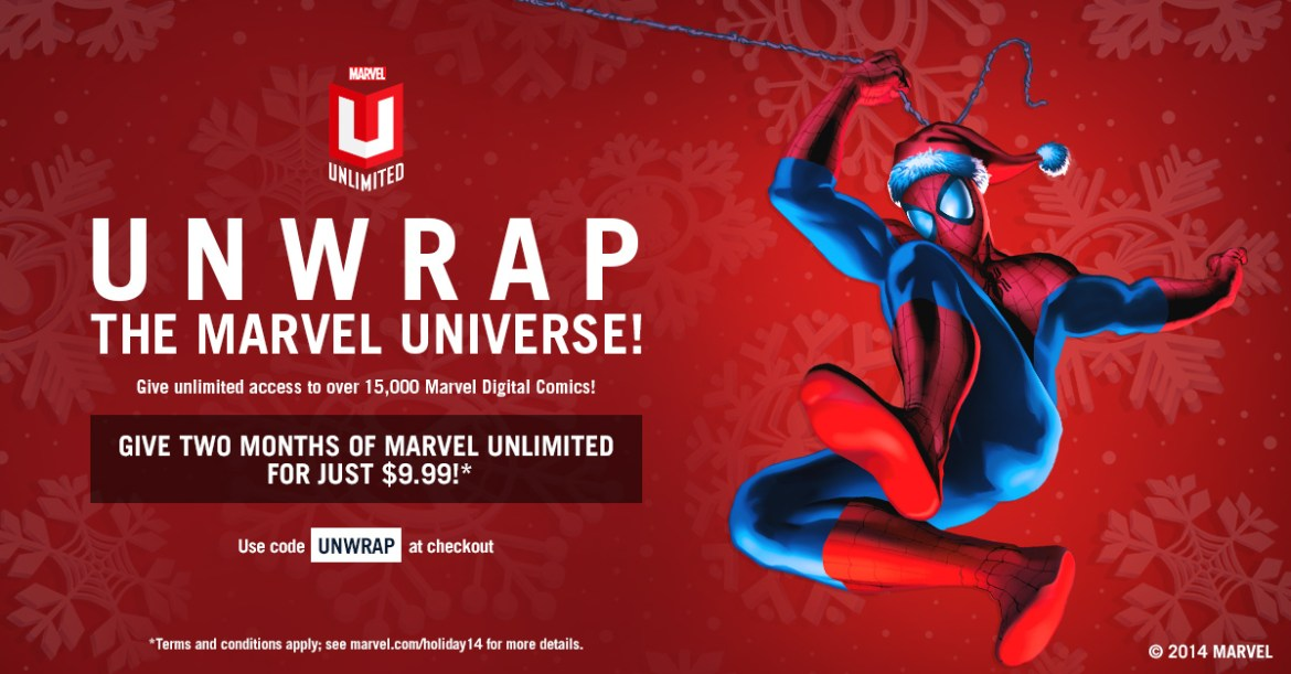 MarvelUnlimited_UNWRAP Enjoy two months of MARVEL UNLIMITED for just $9.99