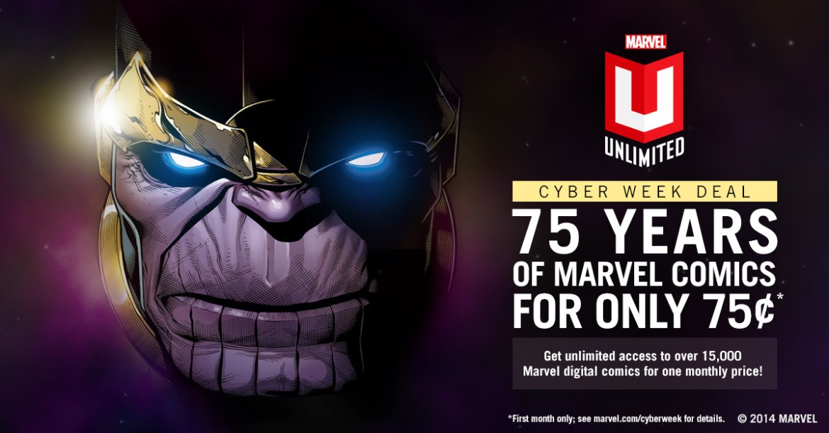 Marvel_Unlimited_Cyber_Week Unlock the Marvel Universe for only 75¢ through Marvel Unlimited