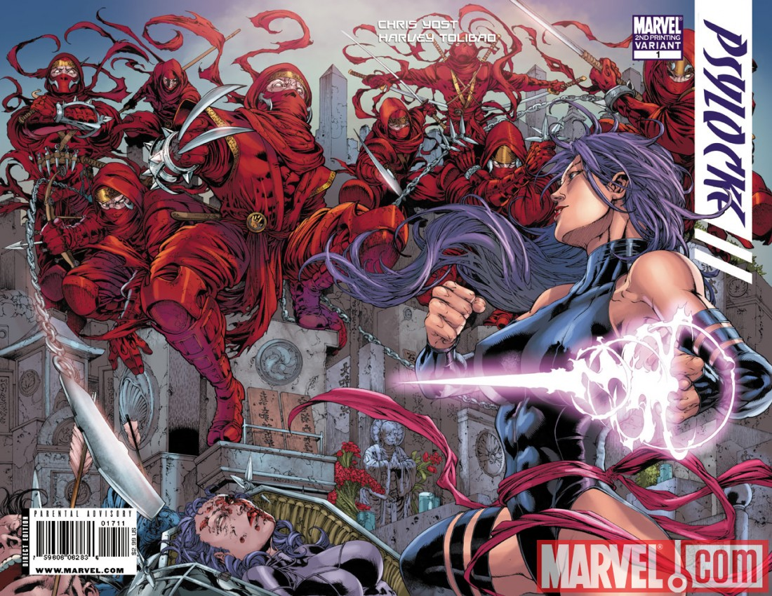 Psylocke_01_SecondPrintingVariant Psylocke #1 sells out, returns with new printing