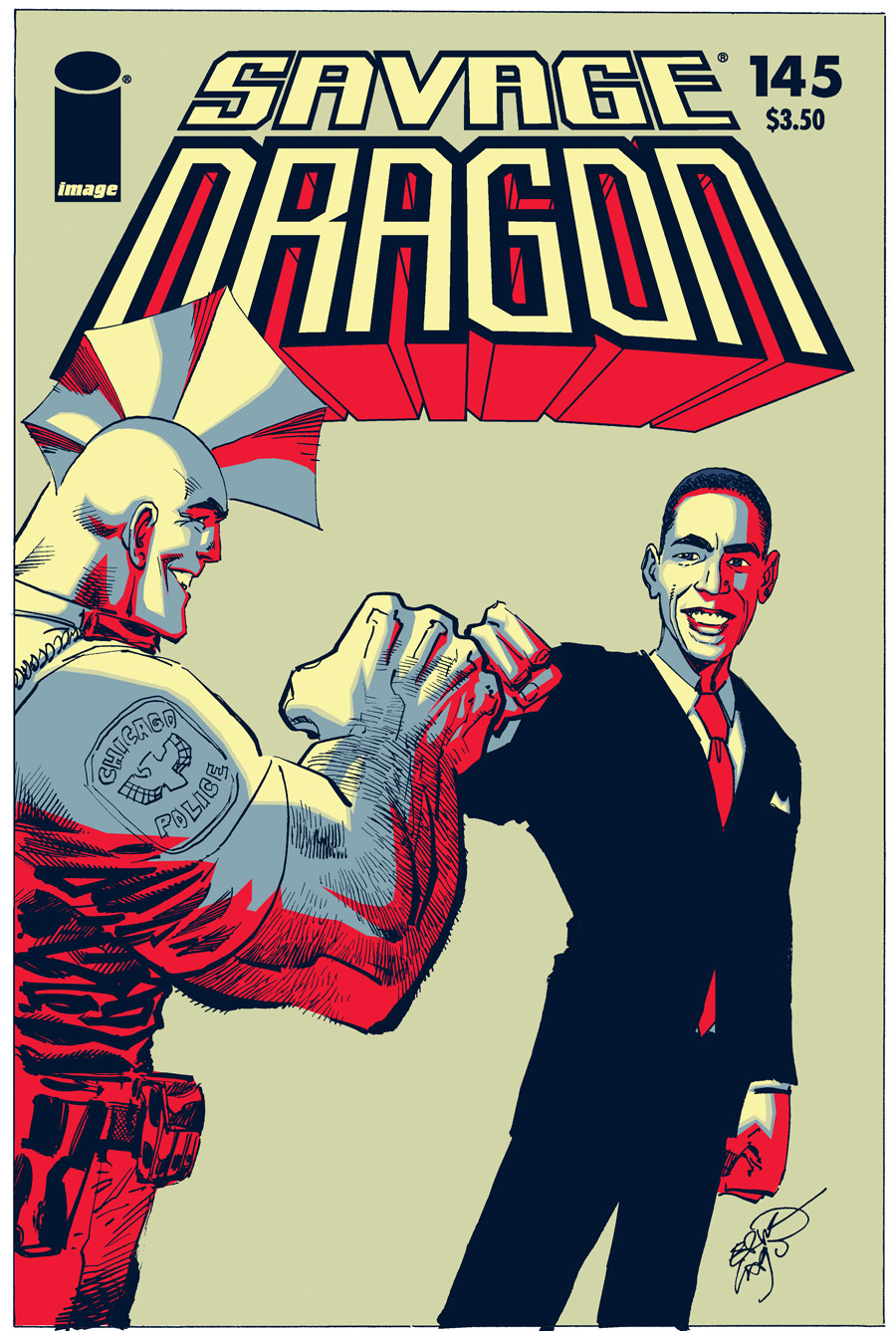 SD145altCOVcol USAToday's Reveals Savage Dragon #145's All-New Obama Cover