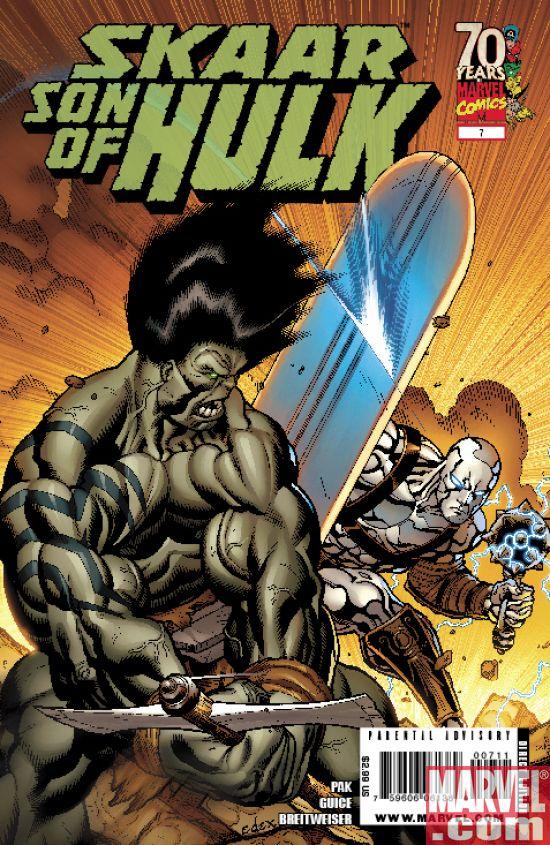 Skaar_SonofHulk_07_Cover Skaar, Son of Hulk Faces Off Against Silver Surfer Today