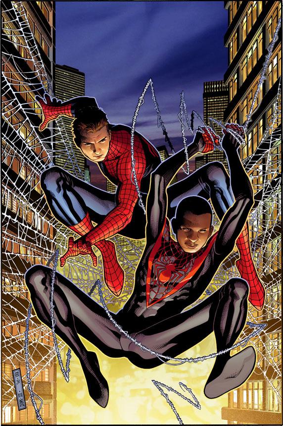 SpiderMen__1_Cover Peter Parker and Miles Morales meet in SPIDER-MEN